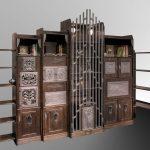Metal Holz Wohnzimmerschrank