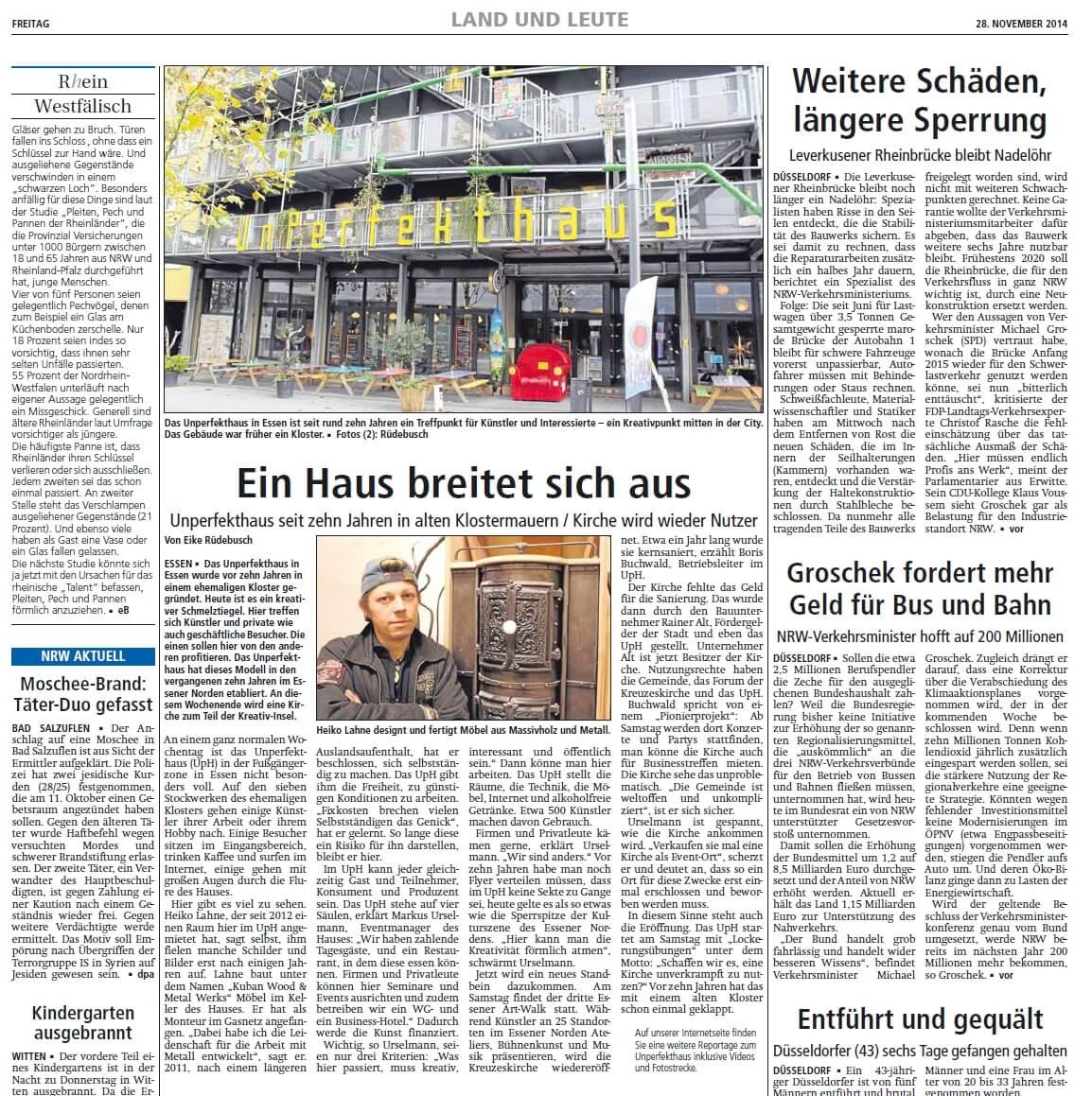 Unperfekthaus Essen - Heiko Lahne Möbelbauer