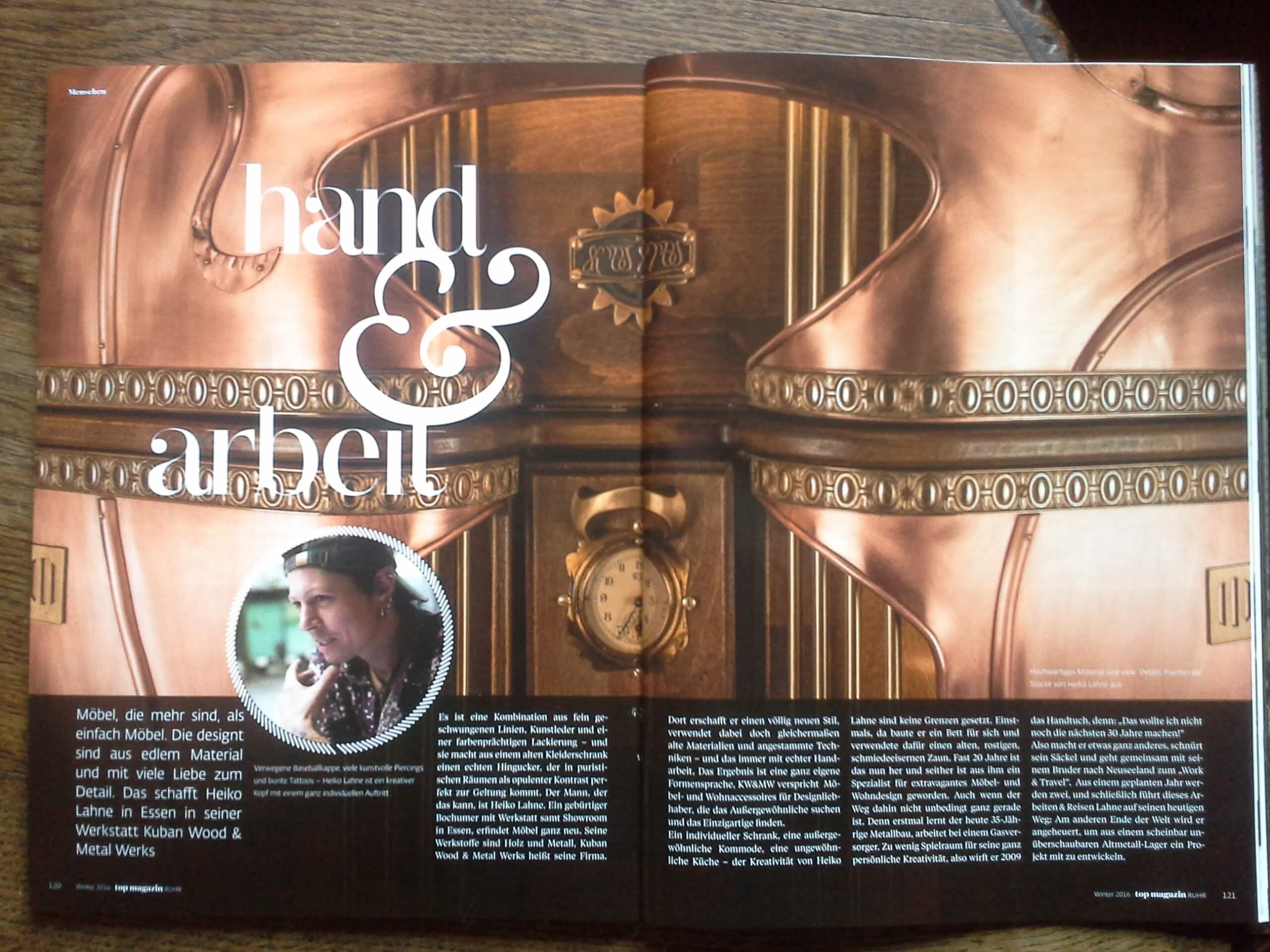 Hand und Arbeit Top Magazin Ruhr Heiko Lahne