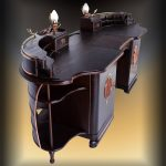 Steampunk Schreibtisch schwarz
